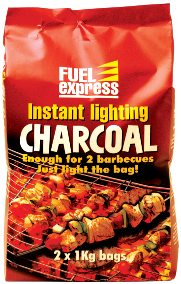 2 x 1kg instant charcoal