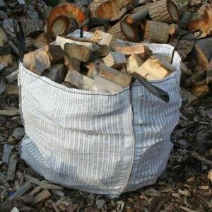Dumpy bag seasoned logs